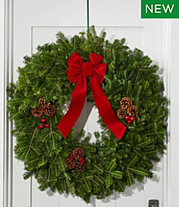 Traditional Christmas Balsam Wreath, 30""